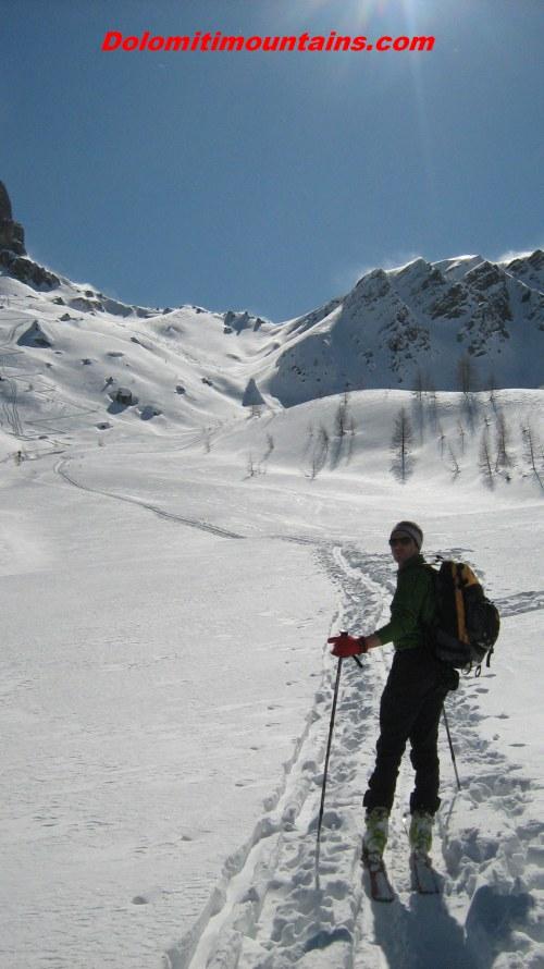 ski up to the mountains