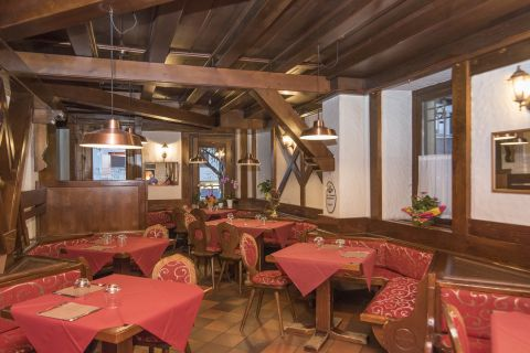 The elegant lunchroom of locanda ai dogi
