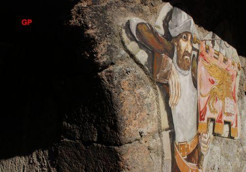 murales near a door