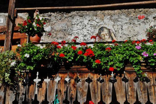 murales on a balcony