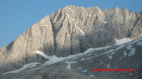 ice shape of marmolada