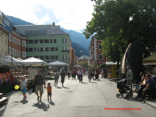 lienz city and the main street