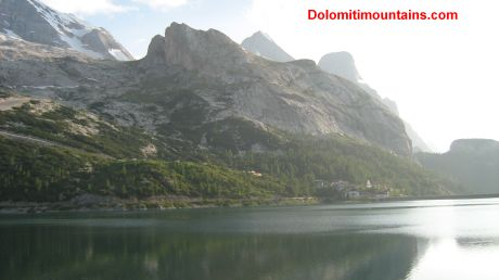 the lake of marmolada