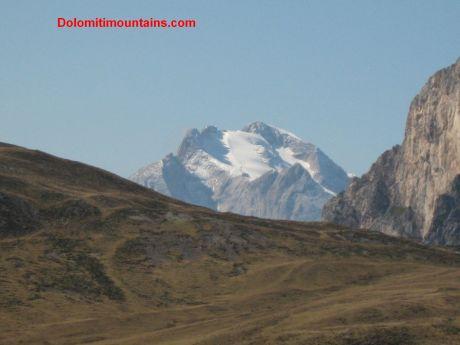 top of marmolada mountain