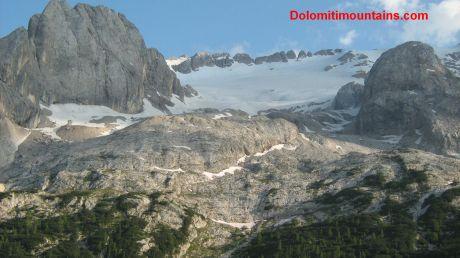 top marmolada glacier
