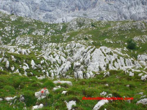shaped rock under the glacier
