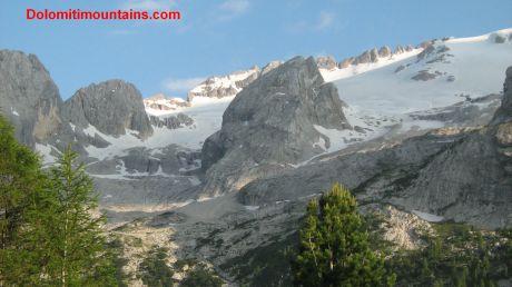 glacier from bottom