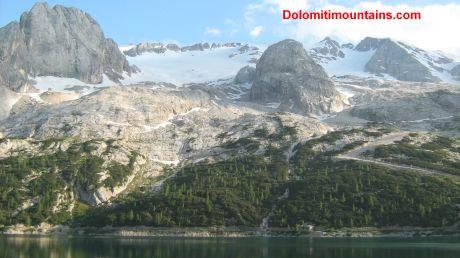 the glacier in summer