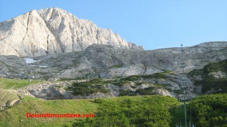 summer marmolada ski slope