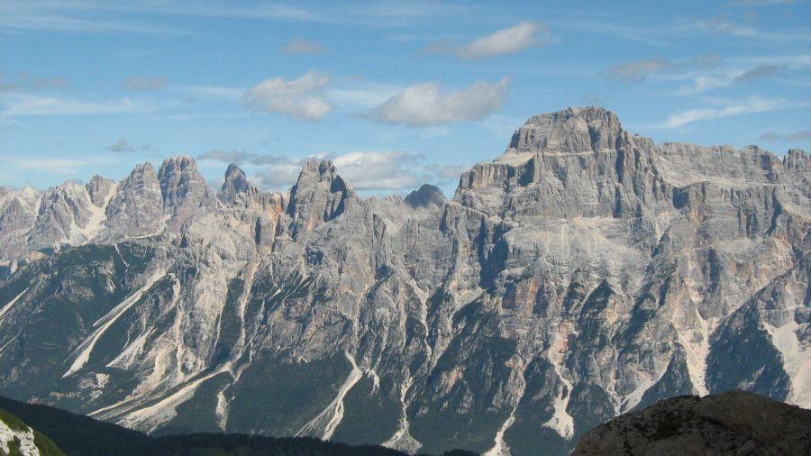 the impressive mountains