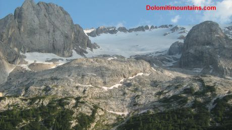 the summit and the glacier